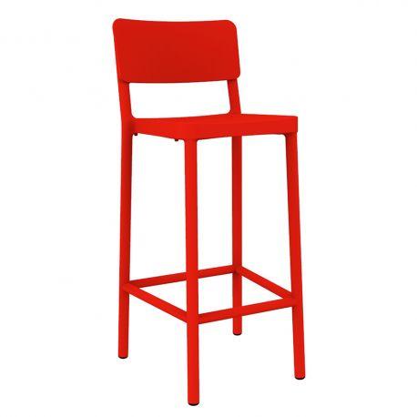 Scaune - Set de 2 scaune de bar H-77cm, exterior / interior design modern, Lisboa High Stool