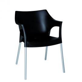 Seturi scaune, HoReCa - Set de 2 scaune interior / exterior din polipropilena si aluminiu POLE
