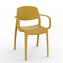 Scaune - Set de 2 scaune din polipropilena pentru exterior / interior Smart Chair with Arms