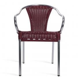 Scaune Bar - Set 4 scaune de exterior / interior din aluminiu si rattan sintetic, Barcino