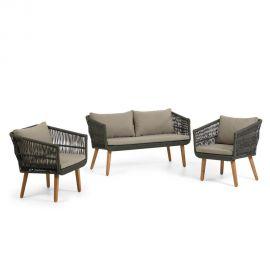 Canapele - Set, canapea cu 2 fotolii, pentru exterior si interior Inti