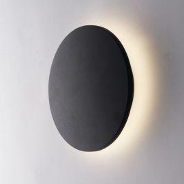 Aplice - Aplica LED lumina ambientala exterior design modern IP54 AMON negru, 4000K, 18cm