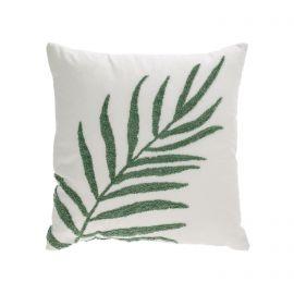 Perne si fete de perne - Set de 2 huse din bumbac pentru perne 45x45cm, Amorela frunza verde brodata