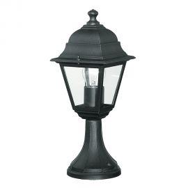 Stalp mic pentru iluminat exterior design clasic IP44 ROMA negru