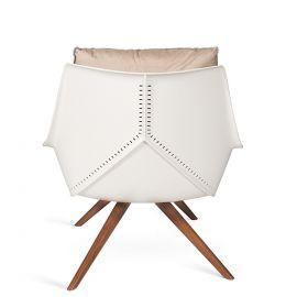 Fotoliu pentru exterior si interior design LUX, Anou Wooden legs