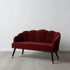 Canapea fixa 2 locuri design modern Adelene, rosu