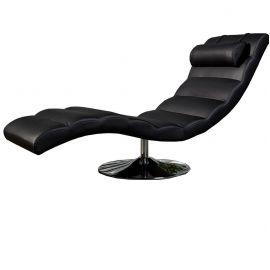 Canapele - Pat de zi tip sezlong Relaxo negru
