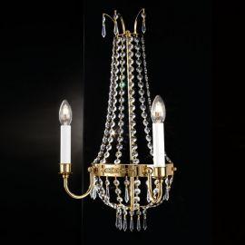 Aplice Cristal Asfour - Aplica clasica din alama si cristale Asfour Empire, 24K gold plated