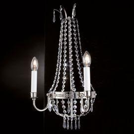 Aplice Cristal Asfour - Aplica clasica din alama si cristale Asfour Empire, Antique silver