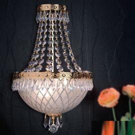 Lustre Cristal Scholer - Aplica de perete clasica din alama si cristale Schöler Empire