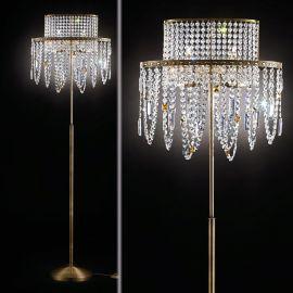 Lampadar din alama si cristale Schöler Kristalldesign