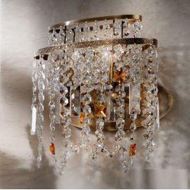 Lustre Cristal Scholer - Aplica din alama si cristale Schöler Kristalldesign, Antique Brass
