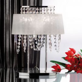 Veioze, Lampadare Cristal - Veioza din alama si cristale Schöler Kristalldesign, chrome