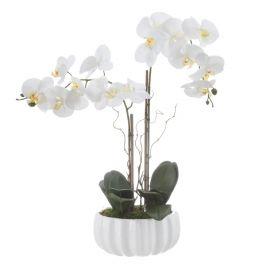 Orhidee artificiala în ghiveci de ceramica Orhidee, H-70cm