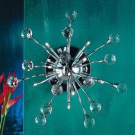 Aplice Cristal Swarovski - Aplica perete cristal Swarovski Spectra design modern de lux GALAXY 9L crom