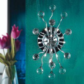 Aplice Cristal Swarovski - Aplica perete cristal Swarovski Spectra design modern de lux GALAXY 10L crom