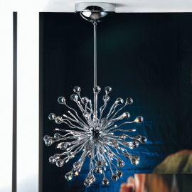 Lustre Cristal Swarovski - Lustra cristal Swarovski Spectra design modern de lux GALAXY 36L crom