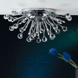 Lustre Cristal Swarovski - Lustra aplicata cristal Swarovski Spectra design modern de lux GALAXY Ø52cm 19L crom