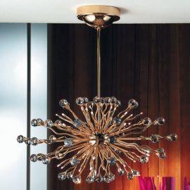 Lustre Cristal Swarovski - Lustra cristal Swarovski Spectra design modern de lux GALAXY Oval 36L auriu
