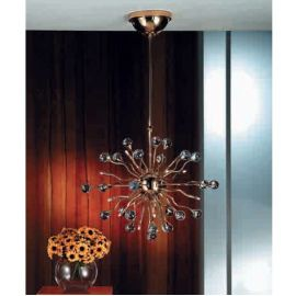 Lustre Cristal Swarovski - Lustra cristal Swarovski Spectra design modern de lux GALAXY 15L auriu
