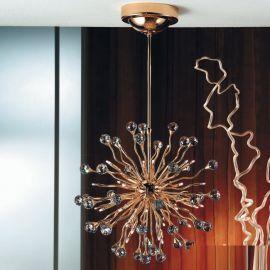 Lustre Cristal Swarovski - Lustra cristal Swarovski Spectra design modern de lux GALAXY 36L auriu