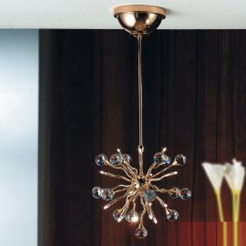 Lustre Cristal Swarovski - Lustra cristal Swarovski Spectra design modern de lux GALAXY 12L auriu