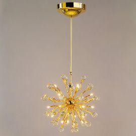 Lustre Cristal Swarovski - Lustra cristal Swarovski Spectra design modern de lux GALAXY 24K 18L auriu