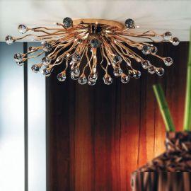 Lustre Cristal Swarovski - Lustra aplicata cristal Swarovski Spectra design modern de lux GALAXY 24K 29L auriu