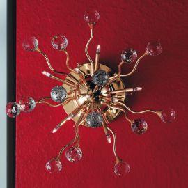 Aplice Cristal Swarovski - Aplica perete cristal Swarovski Spectra design modern de lux GALAXY 9L auriu