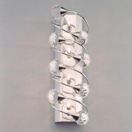 Aplice Cristal Swarovski - Aplica de perete cristal Swarovski Spectra design modern de lux GALAXY 4L crom