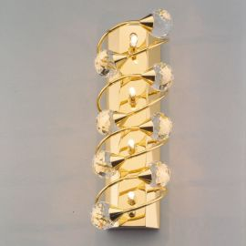 Aplice Cristal Swarovski - Aplica de perete cristal Swarovski Spectra design modern de lux GALAXY 4L auriu