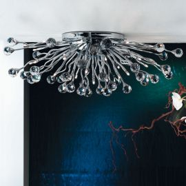 Lustre Cristal Swarovski - Lustra aplicata cristal Swarovski Spectra design modern de lux GALAXY 29L crom
