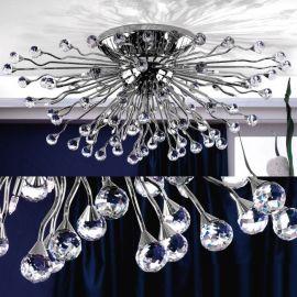 Lustre Cristal Swarovski - Lustra aplicata cristal Swarovski Spectra design modern de lux GALAXY 24L crom