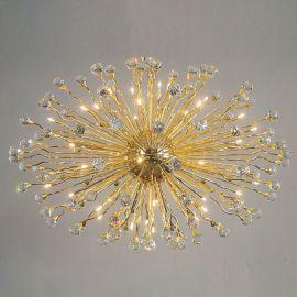 Lustre Cristal Swarovski - Lustra cristal Swarovski Spectra design modern de lux GALAXY 42L, 24K gold plated