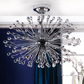 Lustre Cristal Swarovski - Lustra cristal Swarovski Spectra design modern de lux GALAXY 42L crom