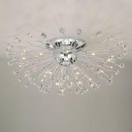 Lustre Cristal Swarovski - Lustra aplicata cristal Swarovski Spectra design modern de lux GALAXY 100cm, crom