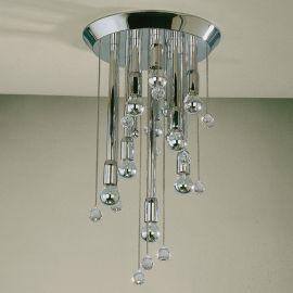 Plafoniere Cristal Swarovski - Plafoniera cristal Swarovski Spectra design modern de lux GALAXY 34cm, crom