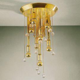 Plafoniere Cristal Swarovski - Plafoniera cristal Swarovski Spectra design modern de lux GALAXY 34cm, 24K gold plated