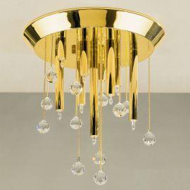 Plafoniere Cristal Swarovski - Plafoniera cristal Swarovski Spectra design modern de lux GALAXY 10L, 24K gold plated