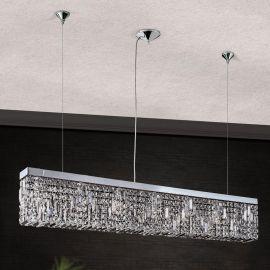 Lustre Cristal Asfour - Lustra suspendata cristal Asfour design modern de lux Ring 130cm chrome plated