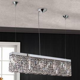 Lustre Cristal Asfour - Lustra suspendata cristal Asfour design modern de lux Ring 90cm chrome plated