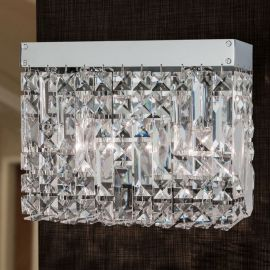 Aplice Cristal Asfour - Aplica de perete cristal Asfour design modern de lux Ring chrome plated