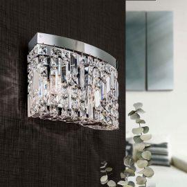 Aplice Cristal Asfour - Aplica de perete cristal Asfour design modern de lux Ring round chrome plated