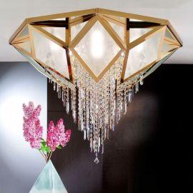 Lustre Cristal Swarovski - Lustra aplicata cristal Swarovski Spectra design de lux Oktogon 120cm 24K gold plated