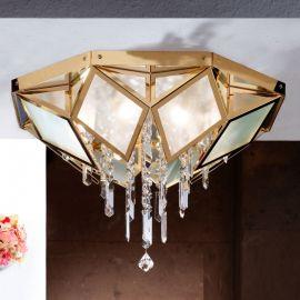 Lustre Cristal Swarovski - Lustra aplicata cristal Swarovski Spectra design de lux Oktogon 55cm 24K gold plated