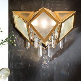 Aplice Cristal Swarovski - Aplica de perete cristal Swarovski Spectra design de lux Oktogon 30cm 24K gold plated