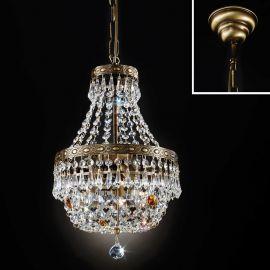 Lustre Cristal Scholer - Lustra suspendata cristal Schöler design de lux Sheraton 25cm, antique brass