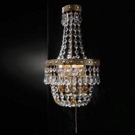 Lustre Cristal Scholer - Aplica de perete cristal Schöler design de lux Sheraton 2L, antique brass