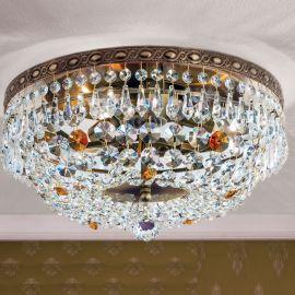 Lustre Cristal Scholer - Lustra aplicata cristal Schöler design de lux Sheraton 35cm, antique brass