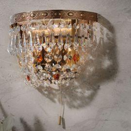 Lustre Cristal Scholer - Aplica de perete cristal Schöler design de lux Sheraton, antique brass